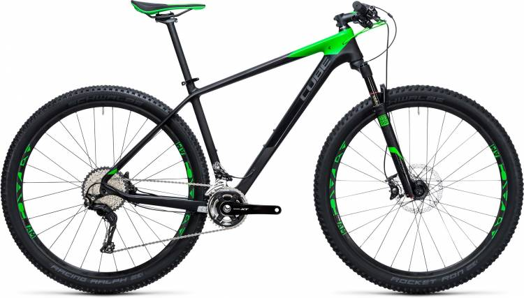 CUBE Reaction GTC Race 2x carbon n green 2017