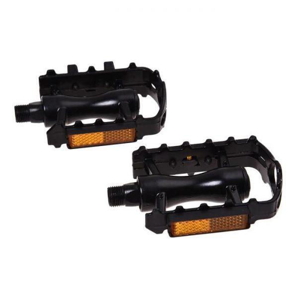 1 paire de pedales plates noires du velo de montag