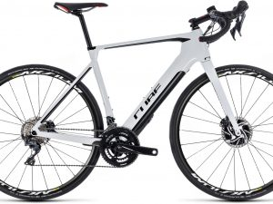 139051 Cube Agree Hybrid C 62 SL Disc Aksium white n black 2018 E Bike Rennrad