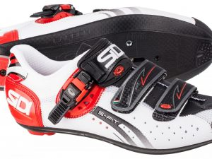Sidi Genius 5 Fit Carbon blc rouge noir