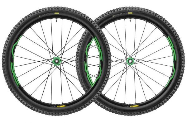 mavic xa elite 275 650b 6bolt mtb wts wheelset 2017 green