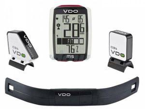 vdo compteur de velo m5 wld3 avec cadence moniteur de frequence cardiaque 4037438300514 0 l
