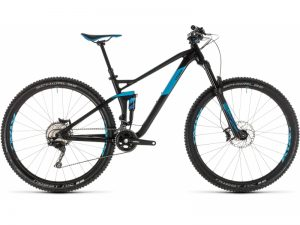 vtt cube stereo 120 race 29 black n blue 2019