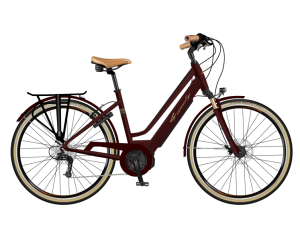 velo a assistance electrique e smooth 20 rouge