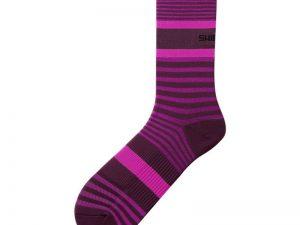 shimano original tall socks 2019 2020 purple pink stripe groesse l xl 45 48