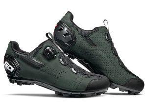 sidi mtb gravel shoe black darkgreen 835105